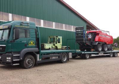 Landmaschinen-Transport