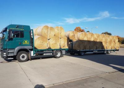 Rundballen-Transport